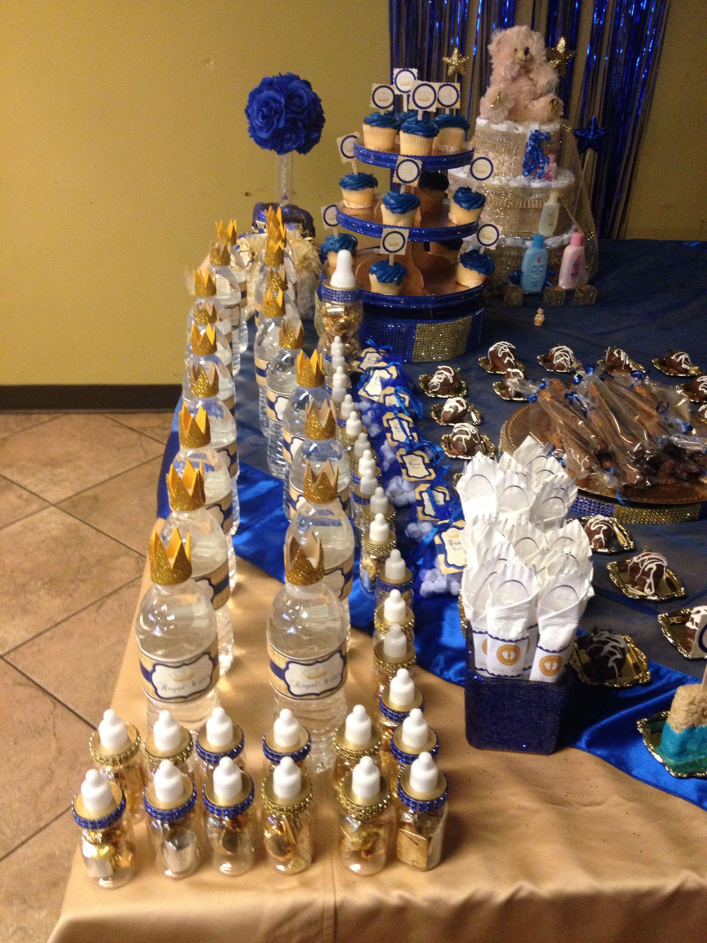 desert table for royal price theme baby shower