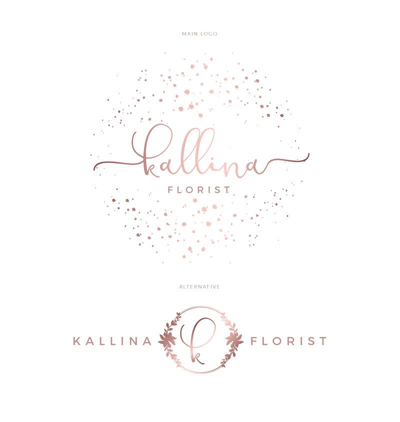 Premade Watercolor Logo For A Wedding Planner Event