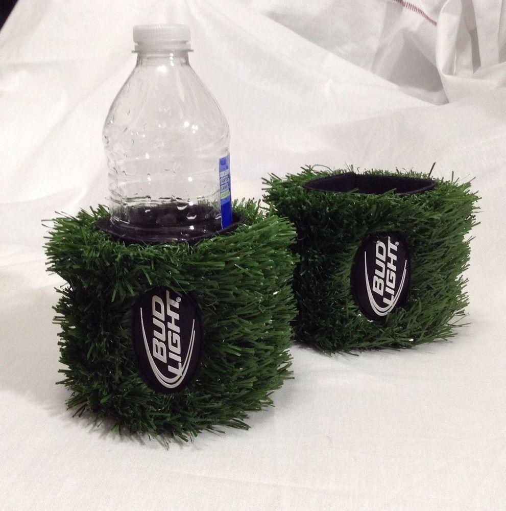 2 Bud Light Beer Budweiser Can Cooler Koozie Huggie Astro Turf Football Grass Budweiser Bud Light Beer Bud Light Cooler Koozie