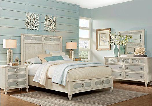 Picture Of Harlowe Ivory 5 Pc Queen Bedroom From Queen Bedroom Sets  Furniture