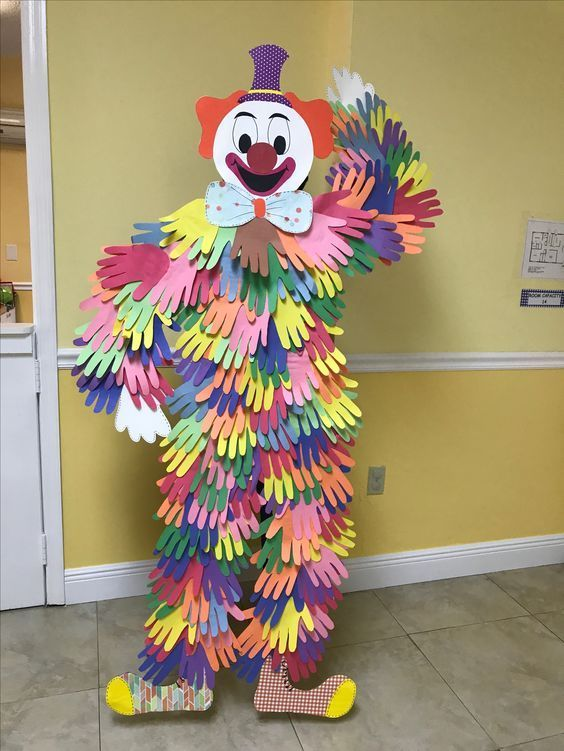 Zirkus-Geburtstagsfeier-Ideen-Kinder - Handdruck-Clown