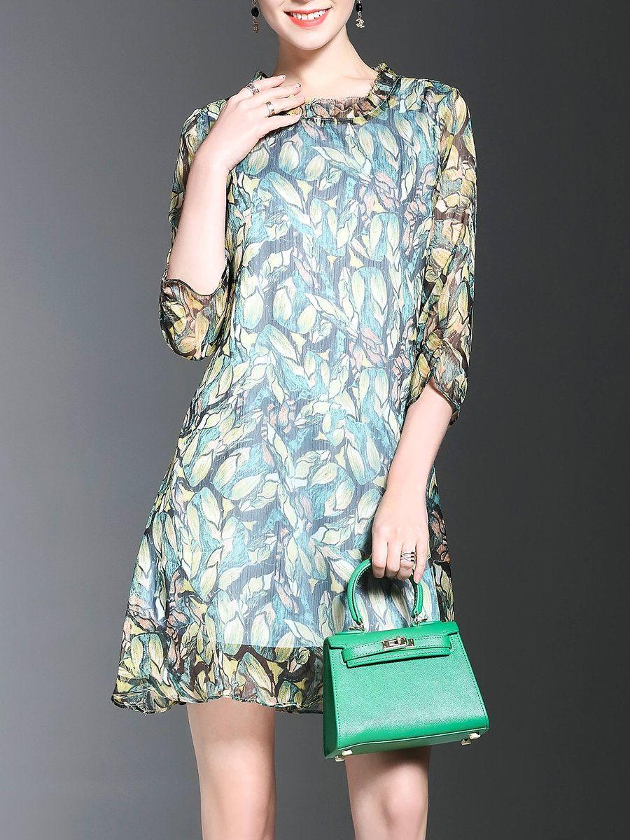 Adorewe stylewe midi dresses designer yum green sleeve