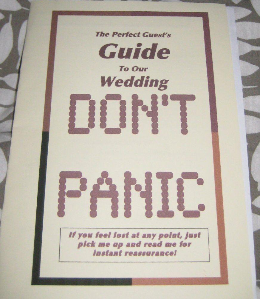 DIY Wedding Programs Offbeatbride 2009 12 Hitchhikers