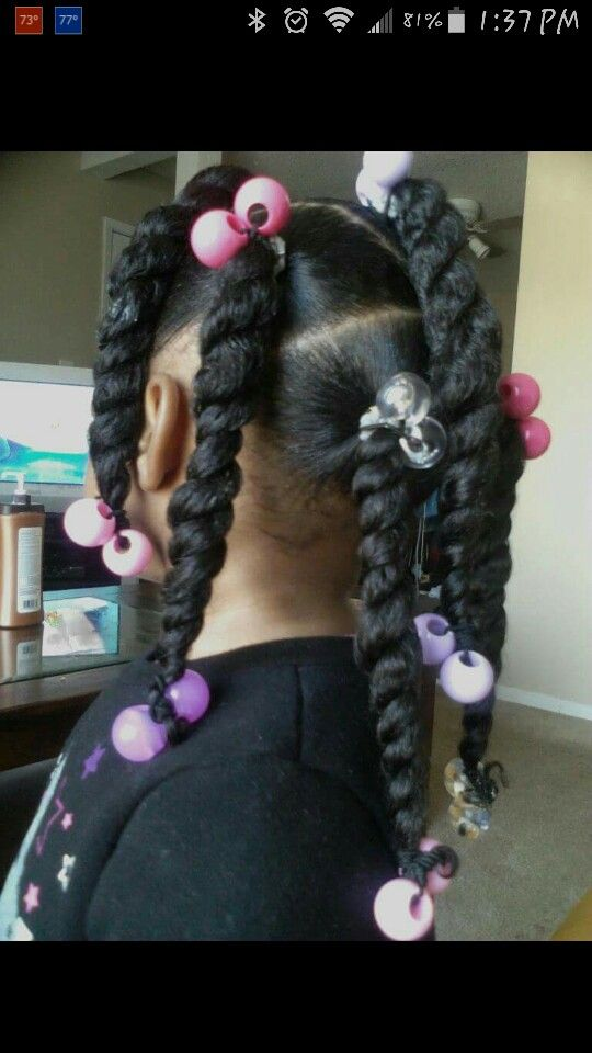 ponytails twists and ball balls
