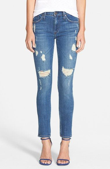 dffe403ff24531 Free shipping and returns on James Jeans Five Pocket Leggings (Indio) at  Nordstrom.com. Threadbare distressing gives an old-favorite feel to five- pocket ...