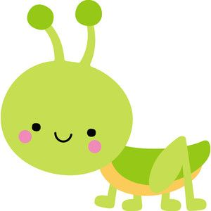 Grasshopper - spring things | Cute cartoon pictures ...