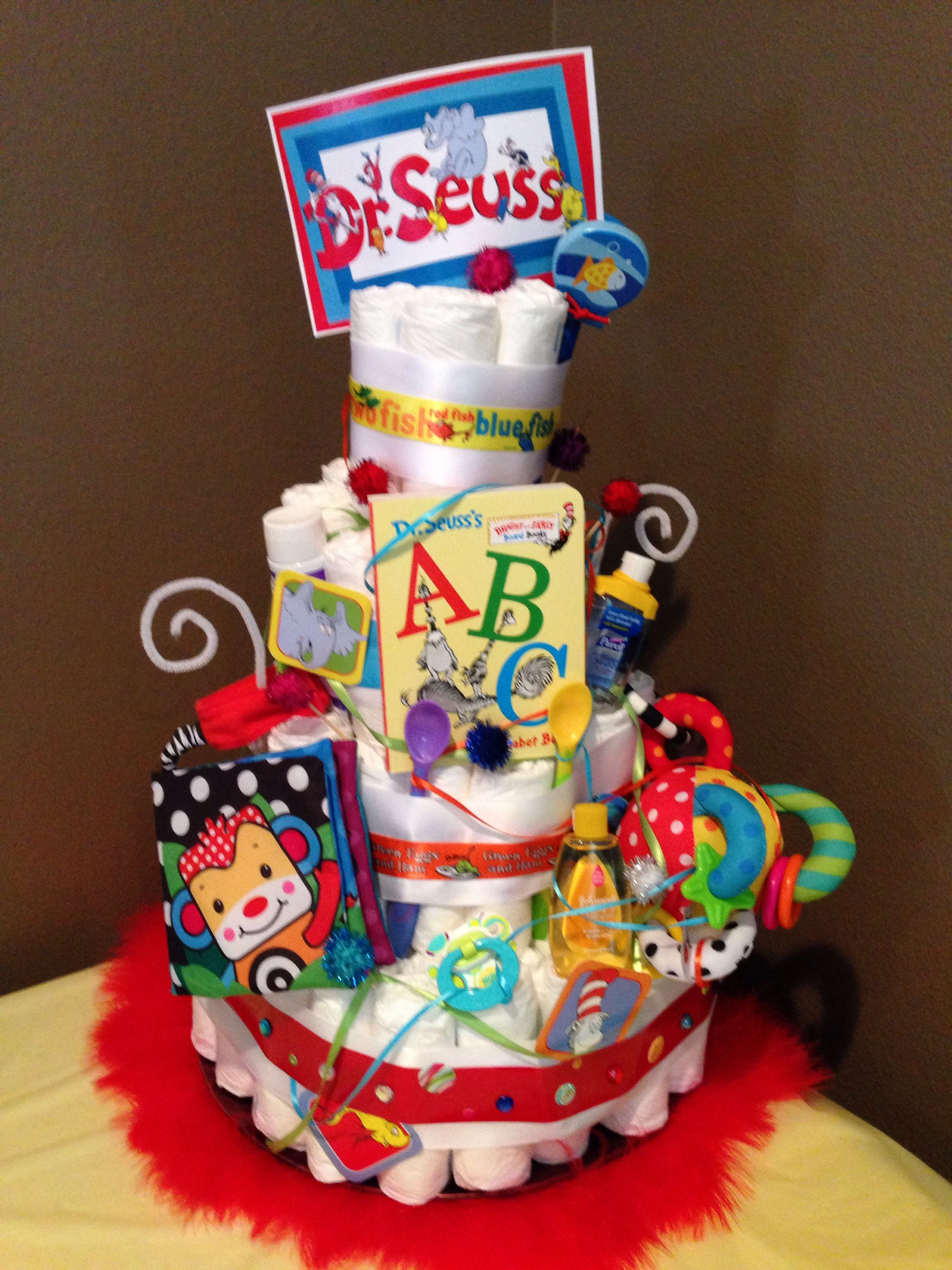 Dr Seuss Diaper Cake With Images Diy Baby Shower Gifts Seuss