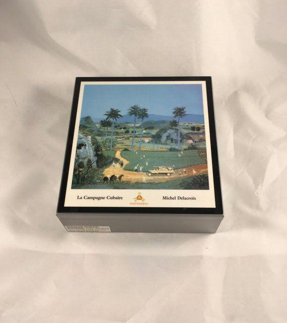 Michel Delacroix La Campagne Cubaire Empty Montecristo Cigar Humidor Box Cigar Humidor Box Cigar Humidor Montecristo Cigars