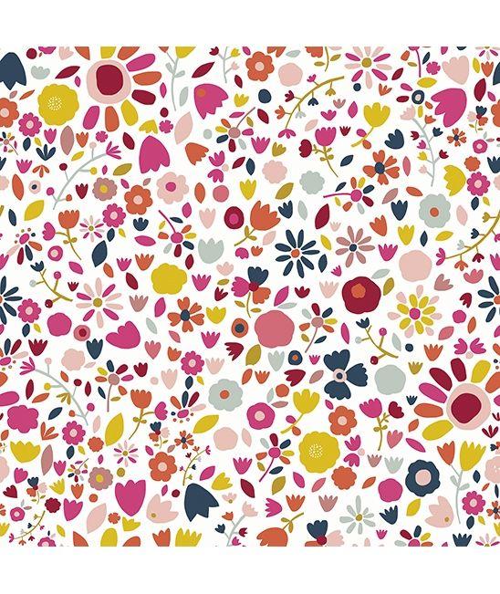Papier peint fleurs petit coin pinterest papier peint enfants papier peint et peindre - Papier peint petite fille ...