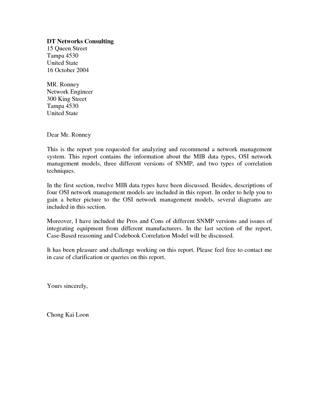 Letter Consulting Customersimple Cover Letter Application