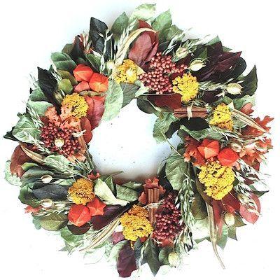 Dried Flowers and Wreaths LLC Abundant Harvest Wreath