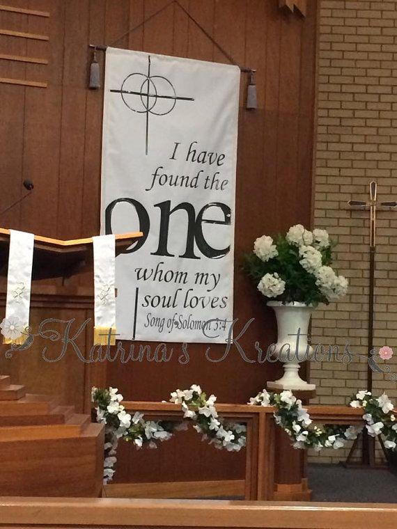 Church Banner Wedding Song Of Solomon 34 By KatrinaKreates