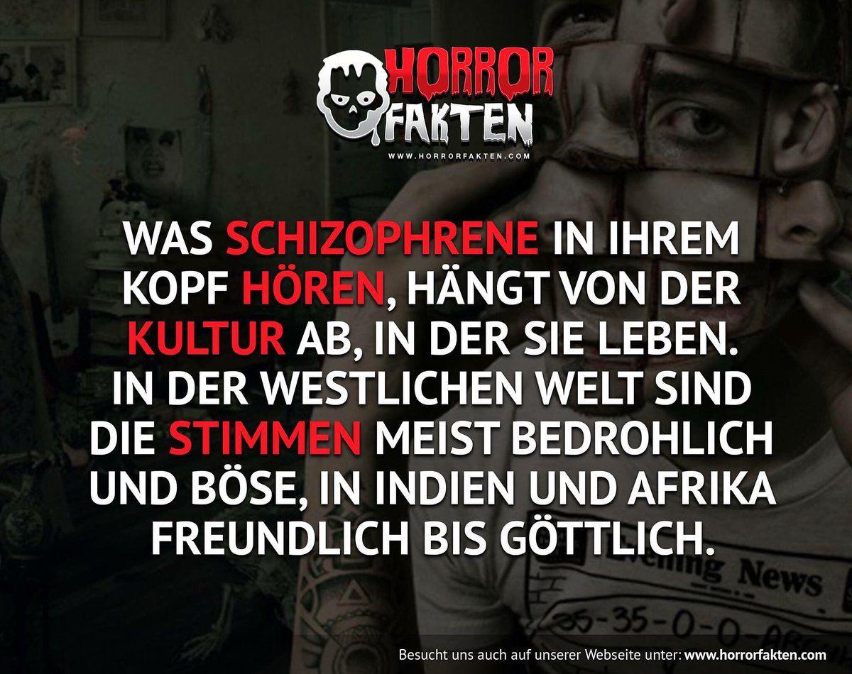 Schizophrenie Fakten Horror Witzige Spruche
