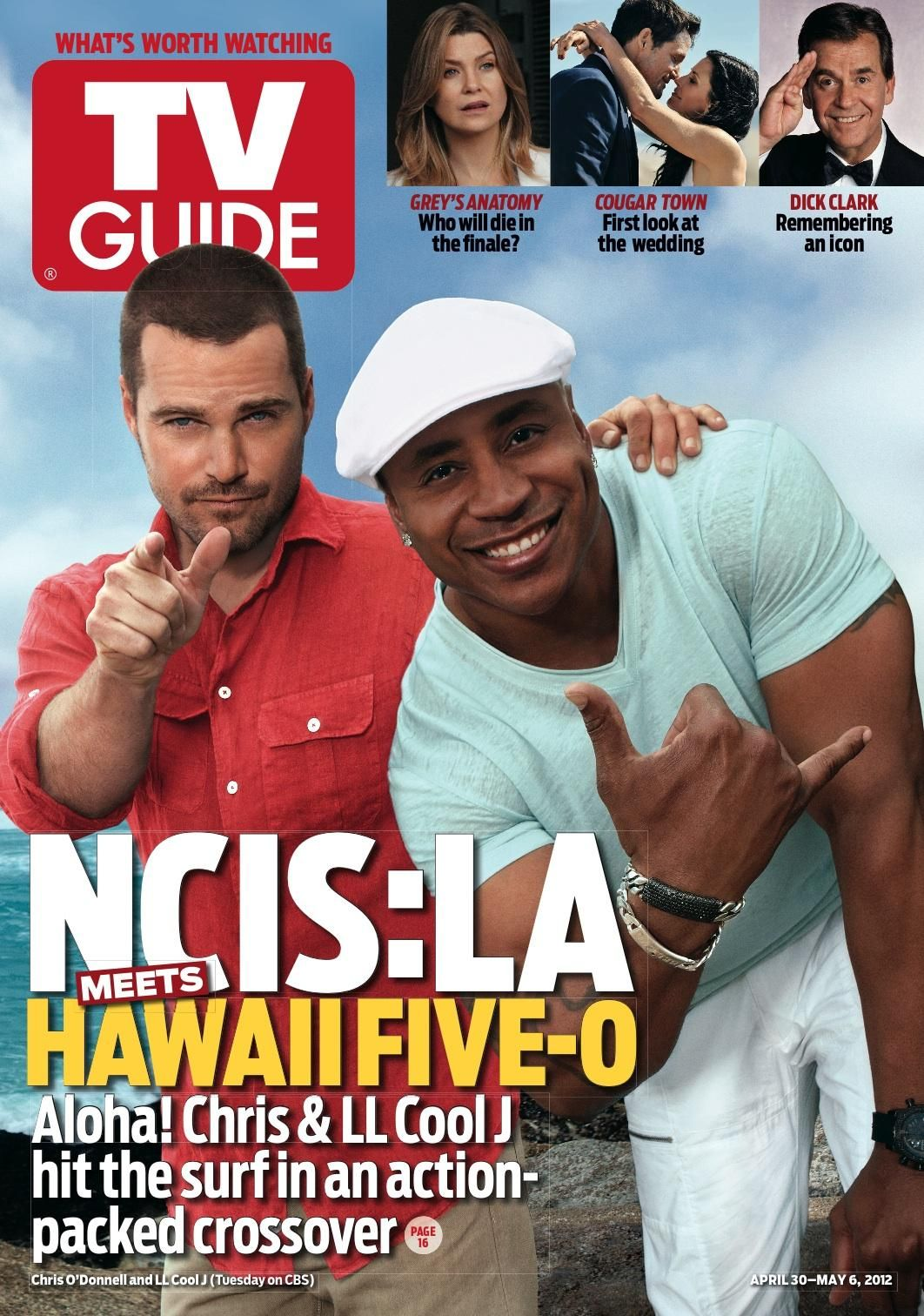 Chis odonnell and ll cool j hit the cover of tv guide