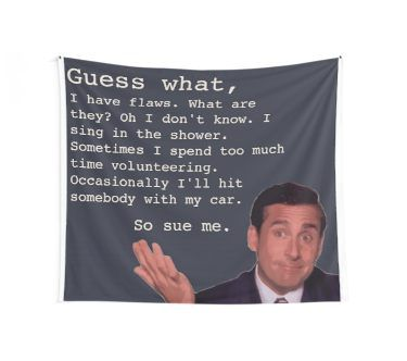 'Michael Scott Quotes' Tapestry by Claire Andrews