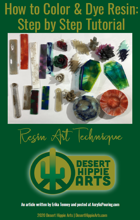 I thought it would be fun to create a downloadable guide to accompany the article I created. This guide contains all of the information included in the article and is 14 pages. I have made this a FREE guide available in my market: CLICK HERE!  #resincoloring #howtocolorresin #resinart #resin #colorresinstepbystep #resinbeginner #howtocoloranddyeresin #resinarttutorial #resintutorial