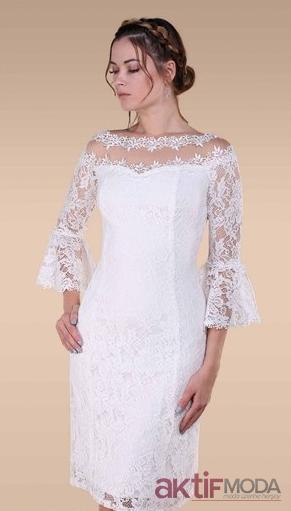 e04641ddcb17c Beyaz Dantel İşlemeli Abiye Elbise Modelleri Beyaz Dantel İşlemeli Abiye Elbise  Modelleri