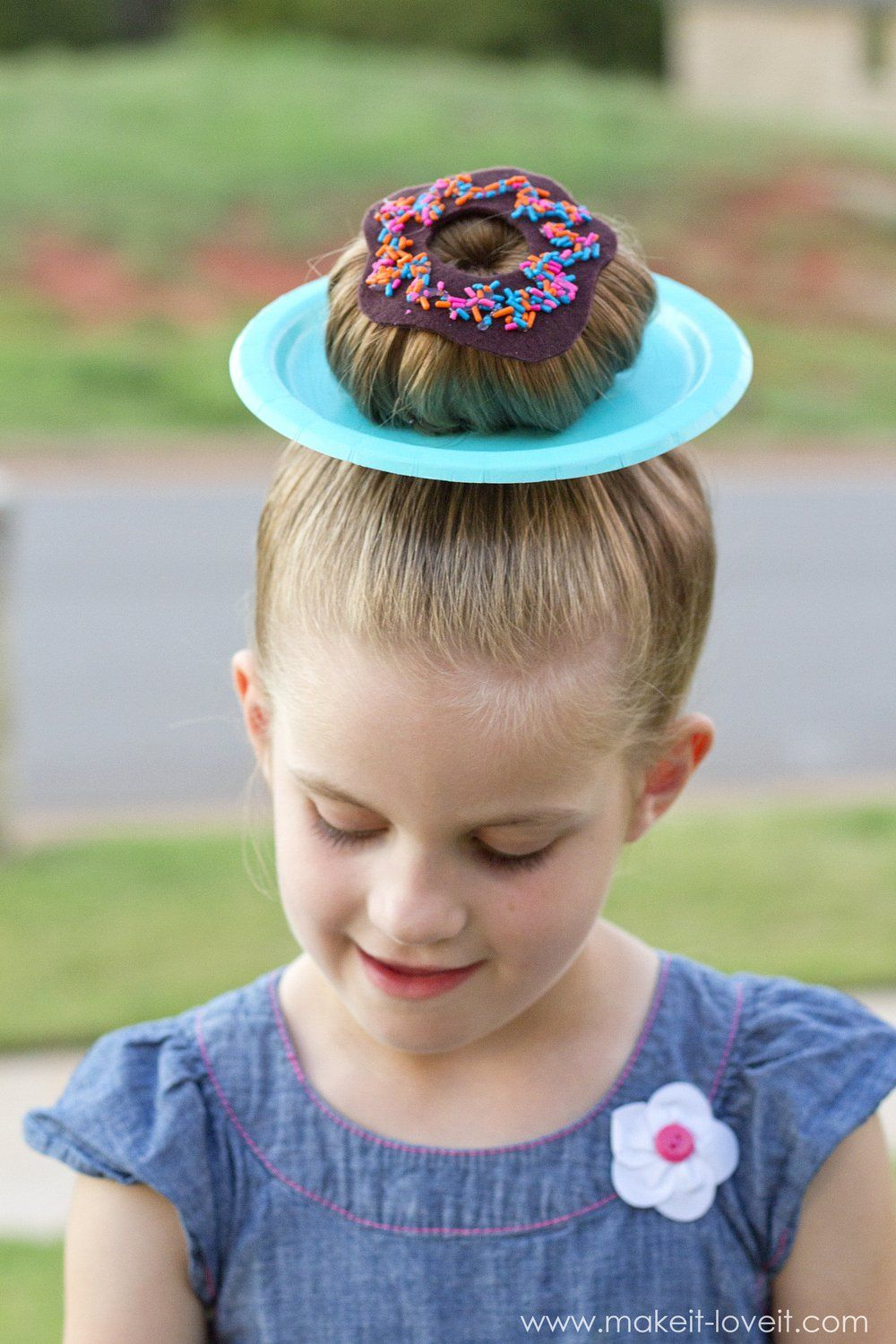25 CLEVER IDEAS for 'Wacky Hair Day' at SCHOOL!! (…including Chloe's wacky hair!) #girlhair