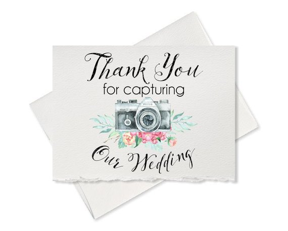 wedding photographer thank you card to your videographer