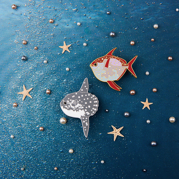 Moonfish Sunfish Brooch From Apollo Box Brooch Pin And Patches Apollo Box