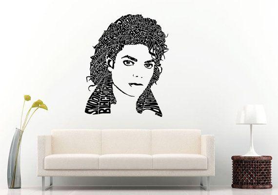 Music Legend Artist The King Of Pop Wall Decal Vinyl Sticker Mural