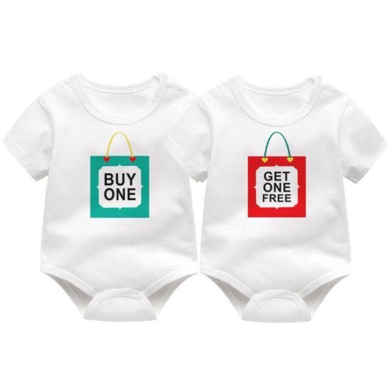 BabyPrem Baby Clothes TRIPLETS Multiples Bodysuits Vests Baby Shower Gifts