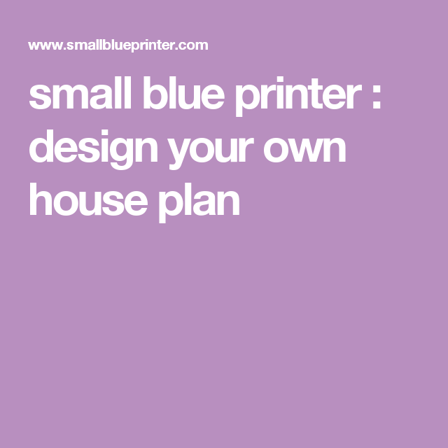 small blue printer garden