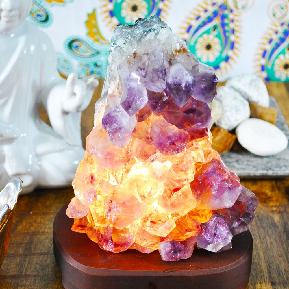 Amethyst Cluster Lamp Crystal Lamp Crystals Stone Lamp