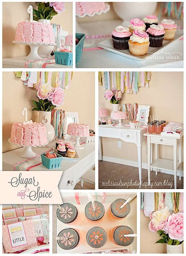 Vintage Sugar and Spice 1st Birthday Party Karas Party Ideas