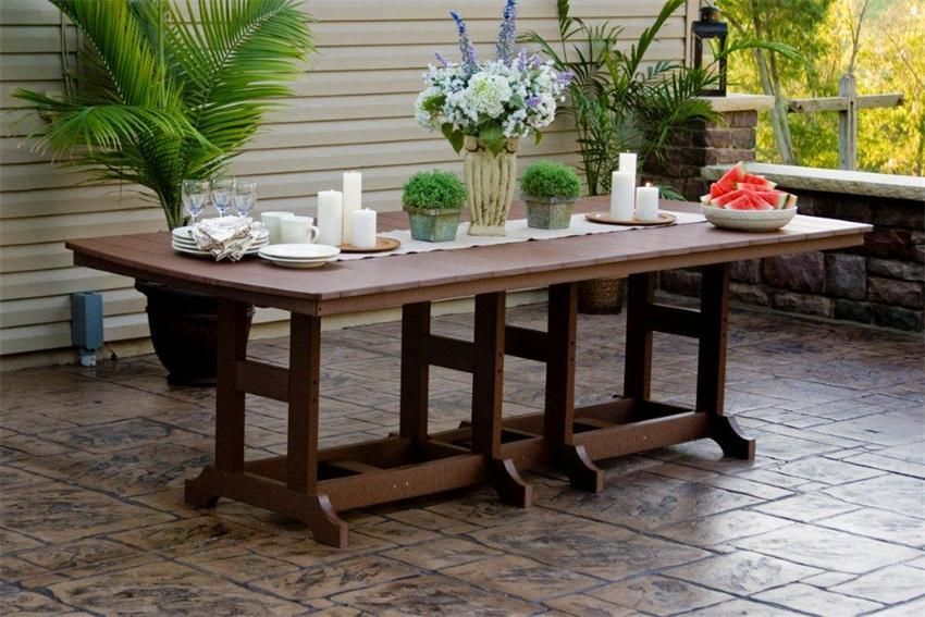 Amish Polywood Orchid Table Patio Set