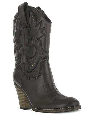 5d1931d2582 Mia Shoes, Larue Western Booties - Boots - Shoes - Macy's | just for ...