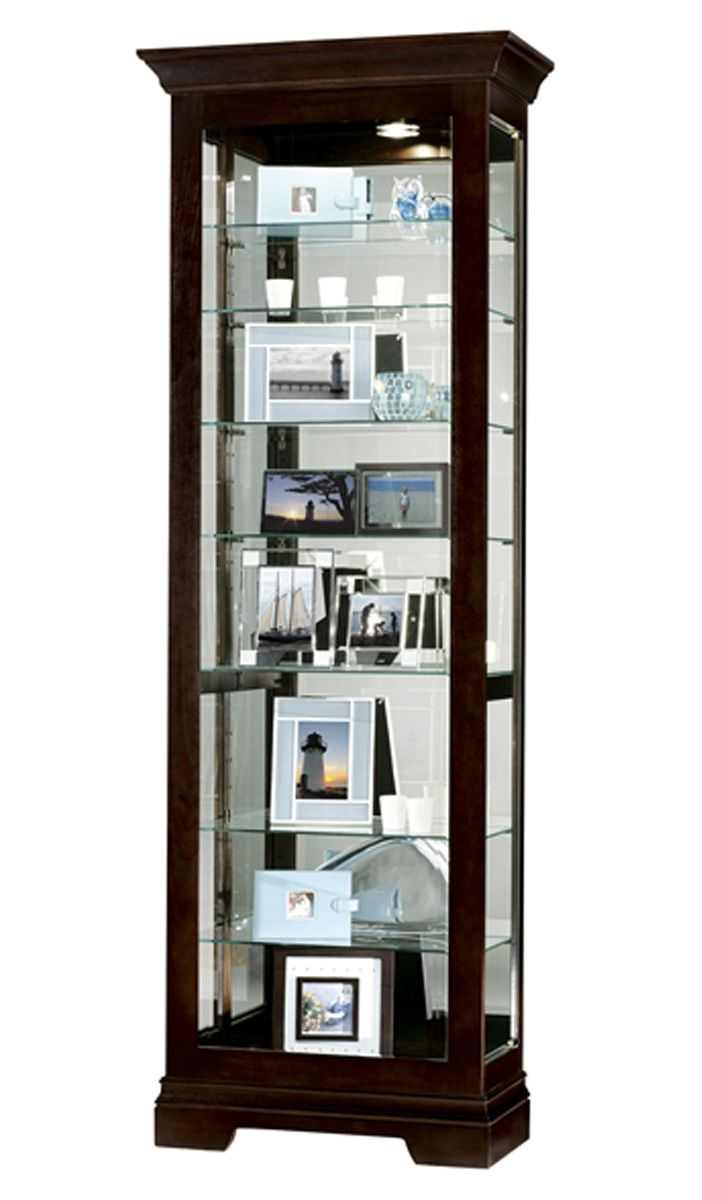 Glass Display Cabinet Salomon Model With Black Coffee Finish Display Cabinet Curio Cabinet Glass Shelves