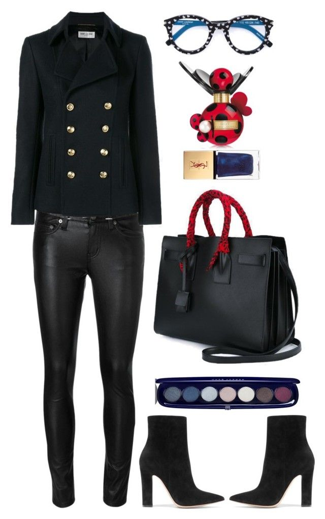 """""""Saint Laurent"""" by thestyleartisan ❤ liked on Polyvore featuring Yves Saint Laurent, Gianvito Rossi, Marc Jacobs and Givenchy"""