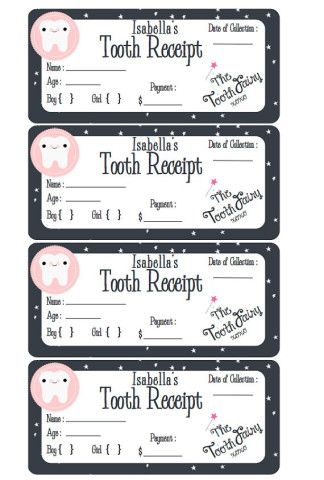 Believe Tooth Fairy Goods Tooth fairy receipt, Tooth fairy and - money receipt design
