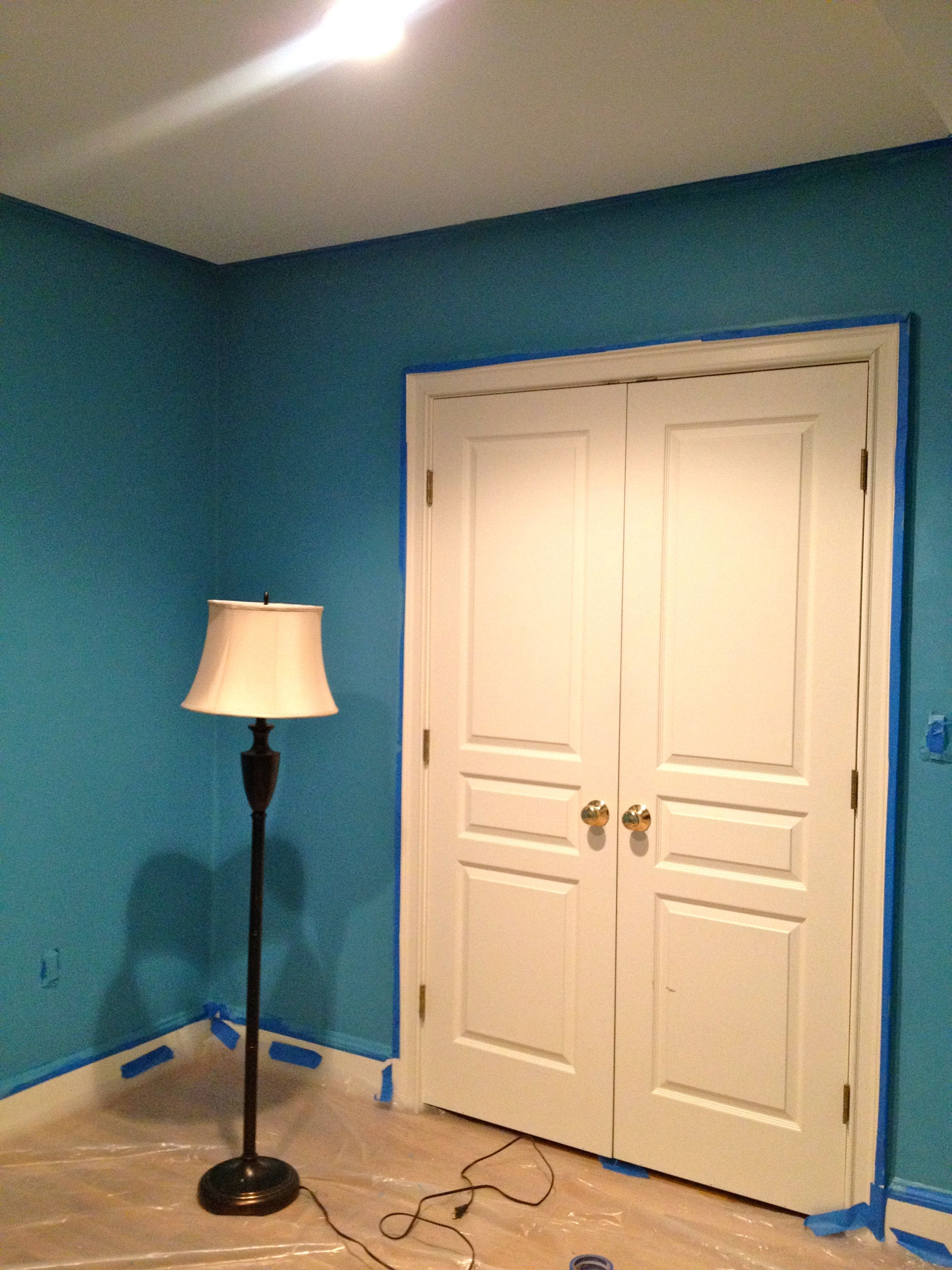 Just Painted The Office Benjamin More Ash Blue I Love It