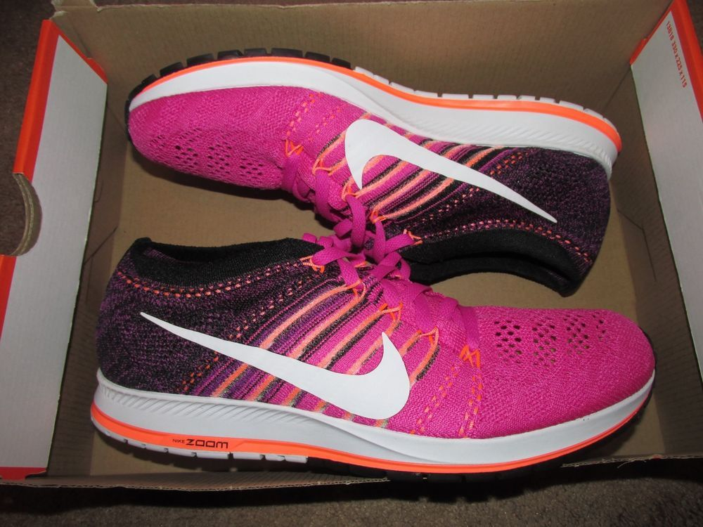 7d5e43295e7 Nike Zoom Flyknit Streak Running Shoes Mens 10 Pink Purple Orange 835994  601  Nike  RunningCrossTraining