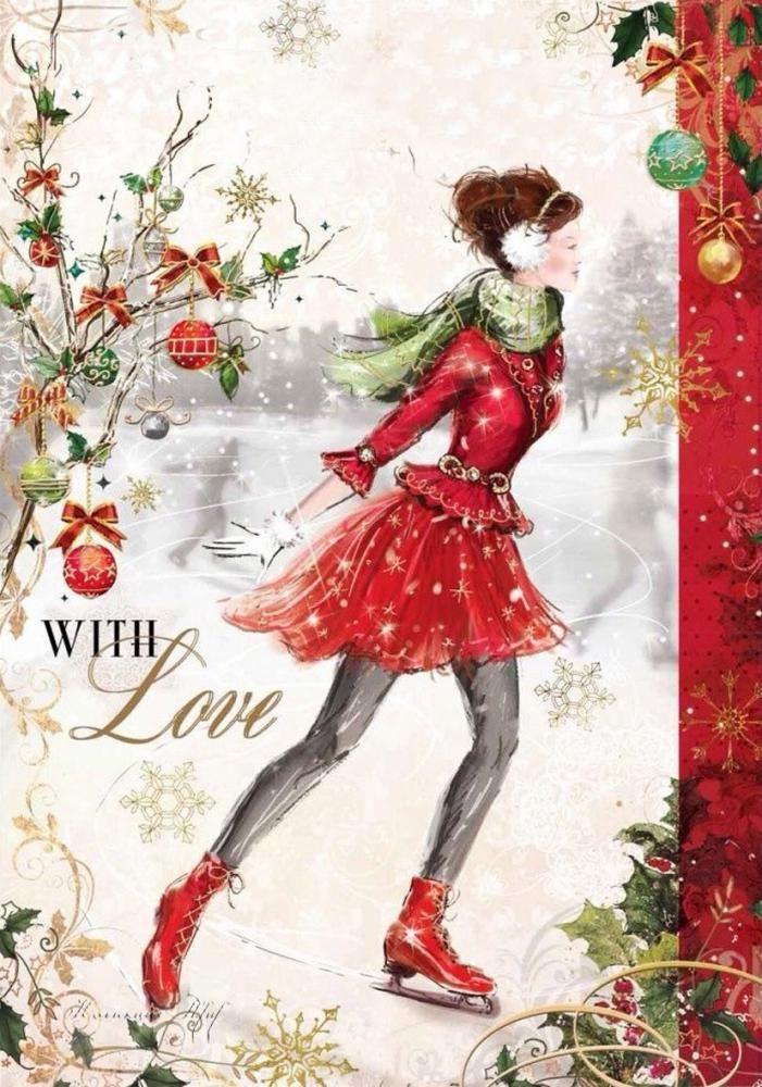 карачаевского старый новый год дизайнерская открытка сила