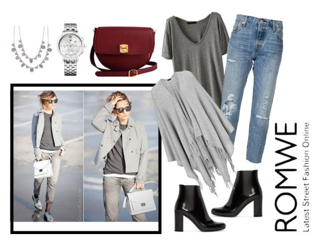 """""""grey-romwe"""" by nylover-998 ❤ liked on Polyvore featuring Levi's, Yves Saint Laurent, Joseph, The Code, Tommy Hilfiger and Givenchy"""