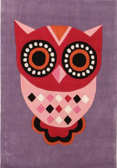 Owl Purple Floor Rug Available At Kids Mega Mart Online Australia