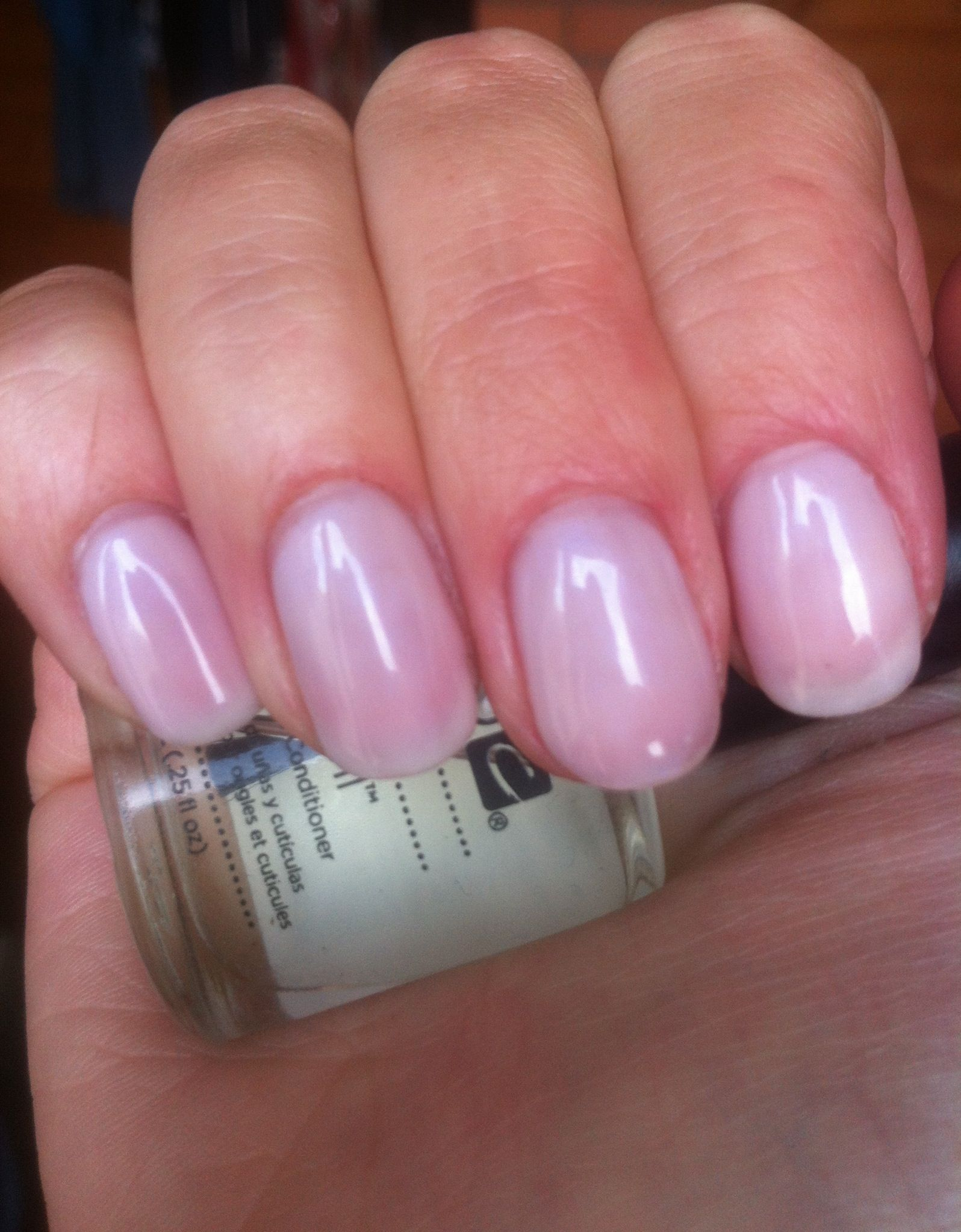 Shellac Romantique Layered With Negligee Shellac Nail