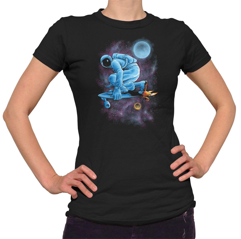 Women's Space Skateboarder T-Shirt - Juniors Fit