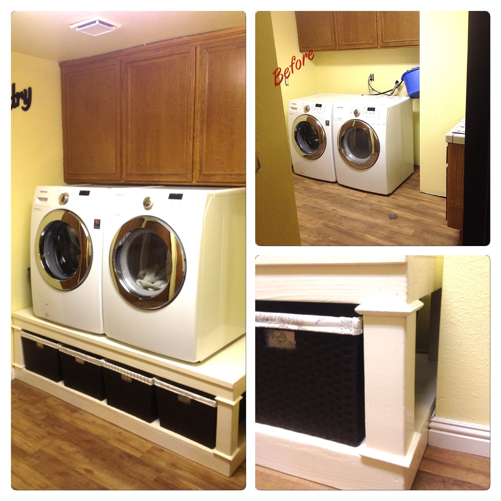 Put In A Laundry Pedestal Raised Up The Washer And Dryer To The Perfect Height Interior Design Trends Living Room Interior Interior Design Living Room