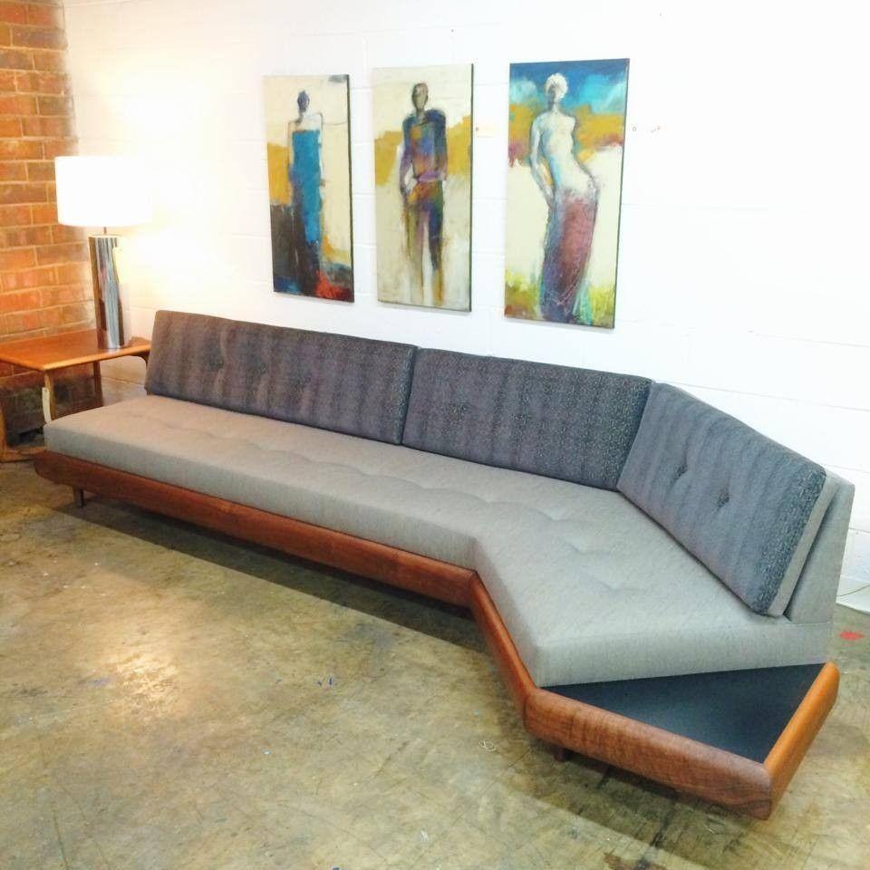 Adrian Pearsall Sofa Sectional Boomerang Shape Curved Gondola Mid