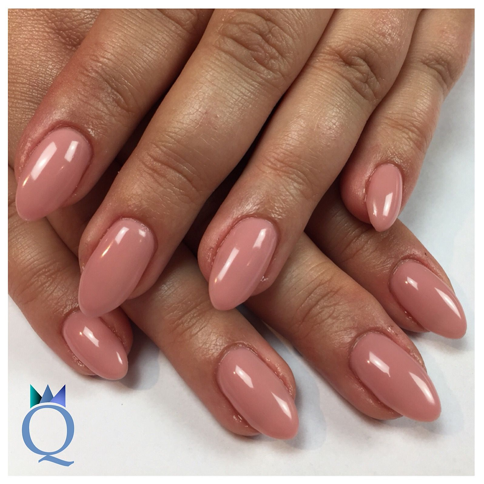 Nageldesign Weiß Rosa Almondnails Gelnails Nails Rose Mandelform Gelnägel Nägel