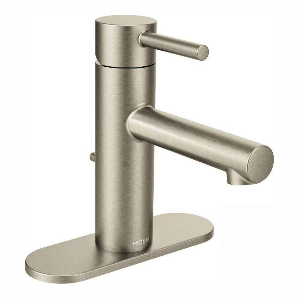 Moen Align Single Hole 1 Handle Bathroom Faucet In Matte Black