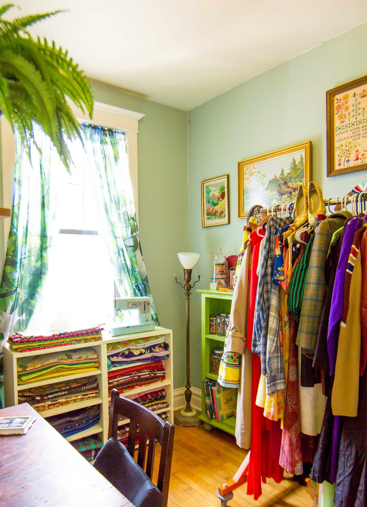 Amys vintage jewel tone apartment turquoise living room