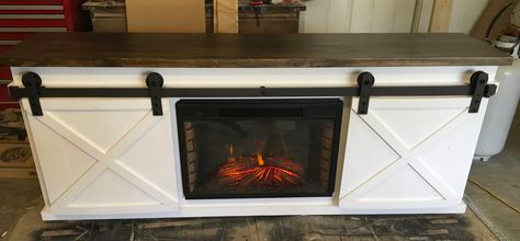 24++ Farmhouse tv console with fireplace best