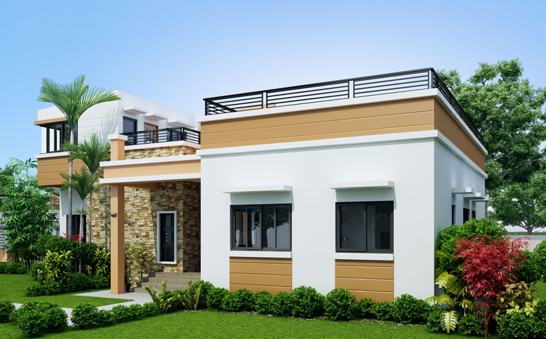 Single Story Four Bedroom House Plan Floor Area 169 Square Meters Modern Bungalow House Four Bedroom House Plans House Design Pictures