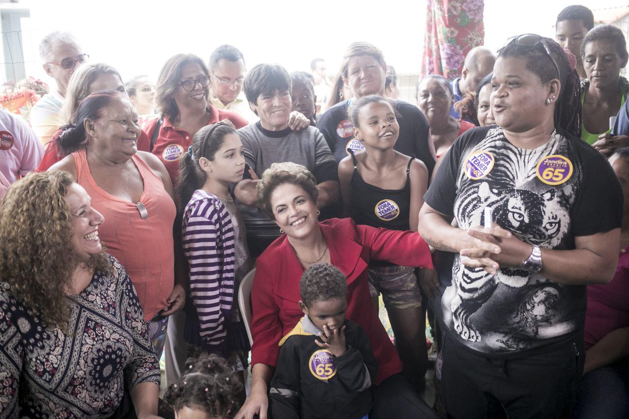 Em campanha por Jandira, no Rio - 2016