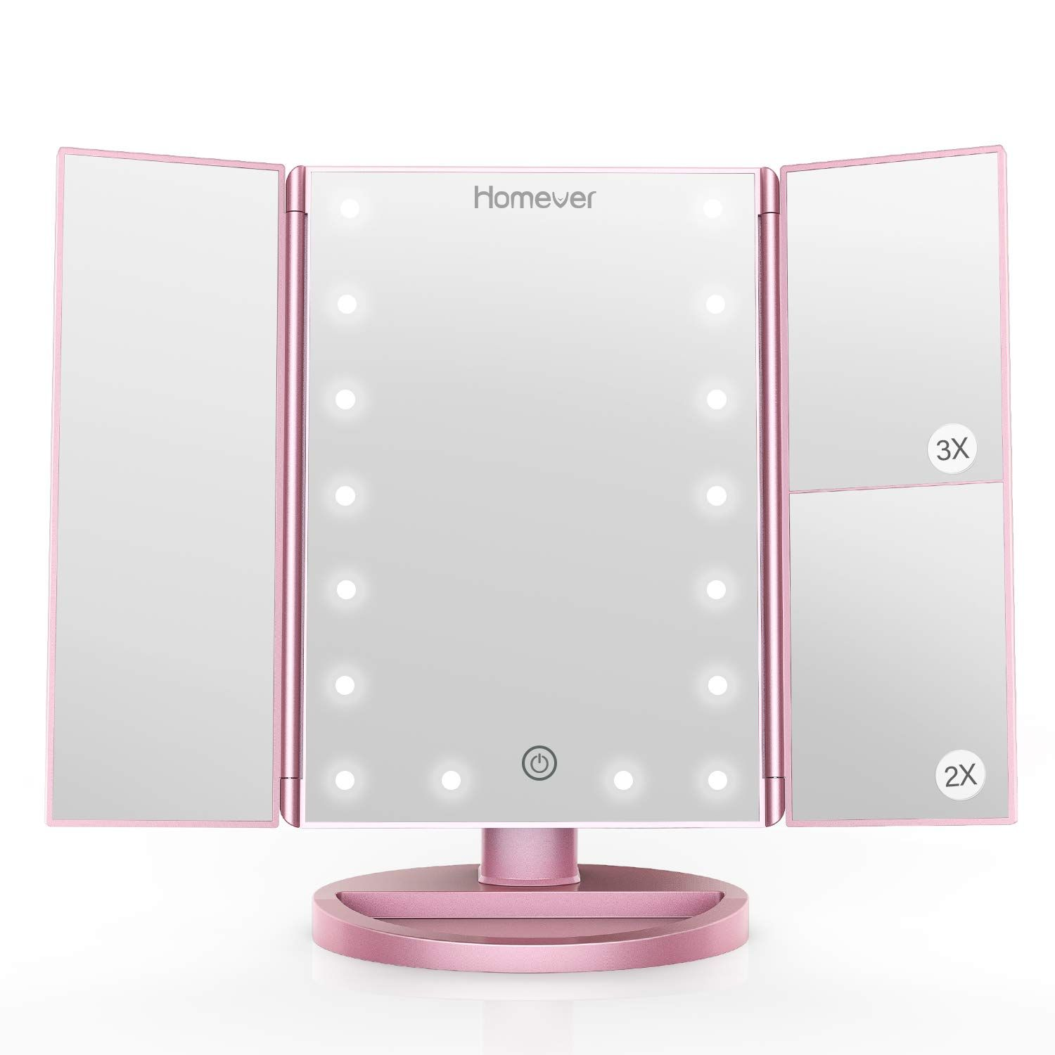 Homever Makeup Mirror 21 Led Lighted Vanity Mirror With Touch